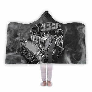 Supercharger Hooded Blanket