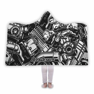 Parts Crazy Hooded Blanket
