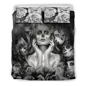 Day of the Dead Girls bedding covers