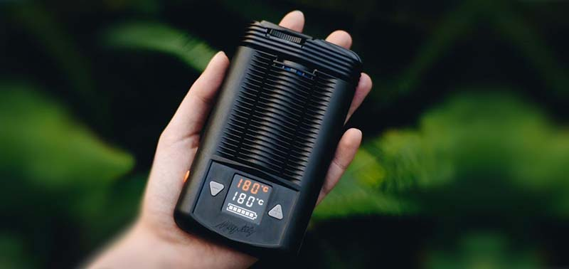 Mighty Vaporizer in hand