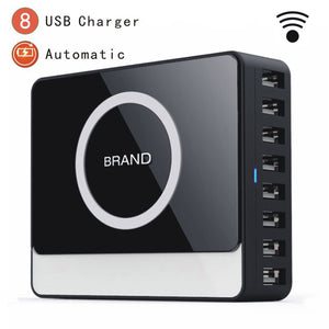 8 Ports USB Qi Wireless Travel Charger - Fogglight