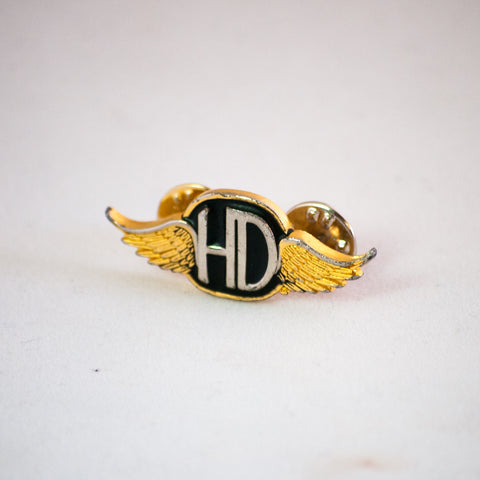 harley davidson vintage enamel pin wings HD