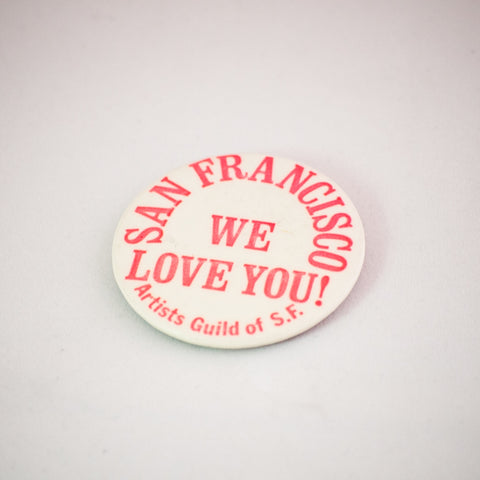 vintage sf button san francisco pins california