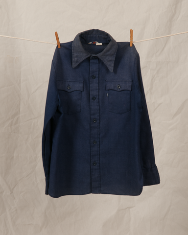 1970's-levis-shirt-button-up-down-indigo-fabric-vintage-style