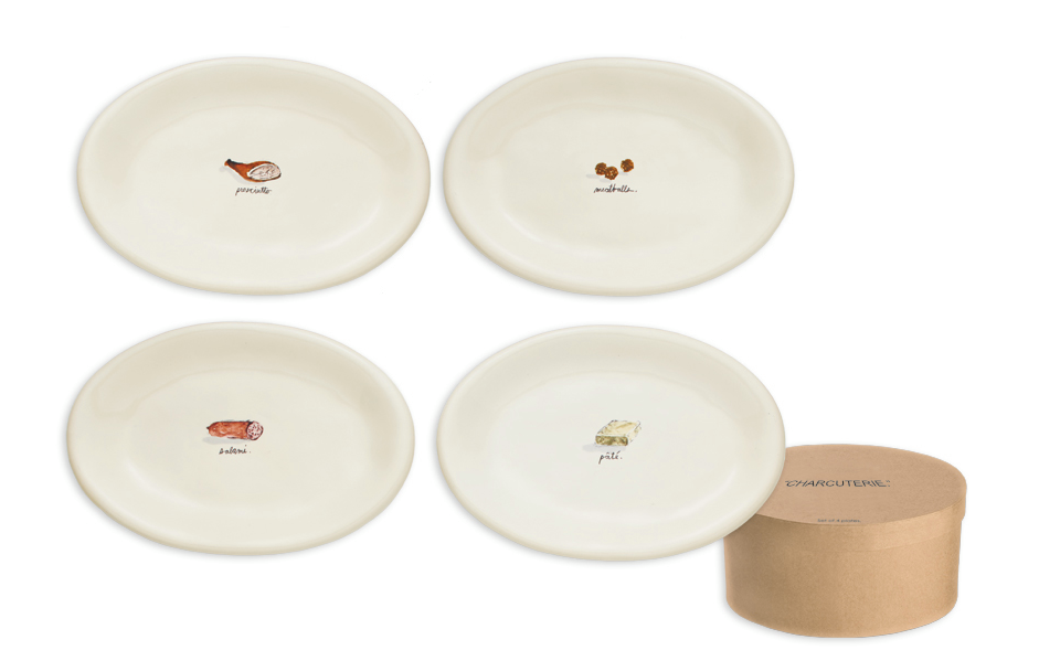 Rae Dunn Charcuterie Oval Plates with Gift Box