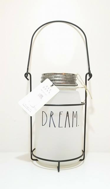 "Rae Dunn Milk Glass Lantern ""DREAM"""