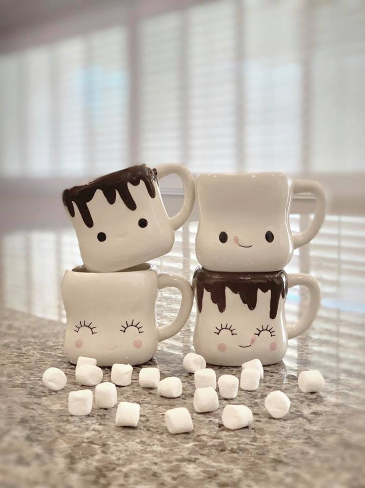 Marshmallow Mugs with Handles