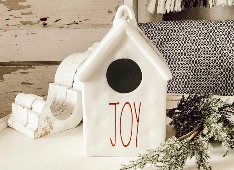 Farmhouse Style Joy Birdhouse