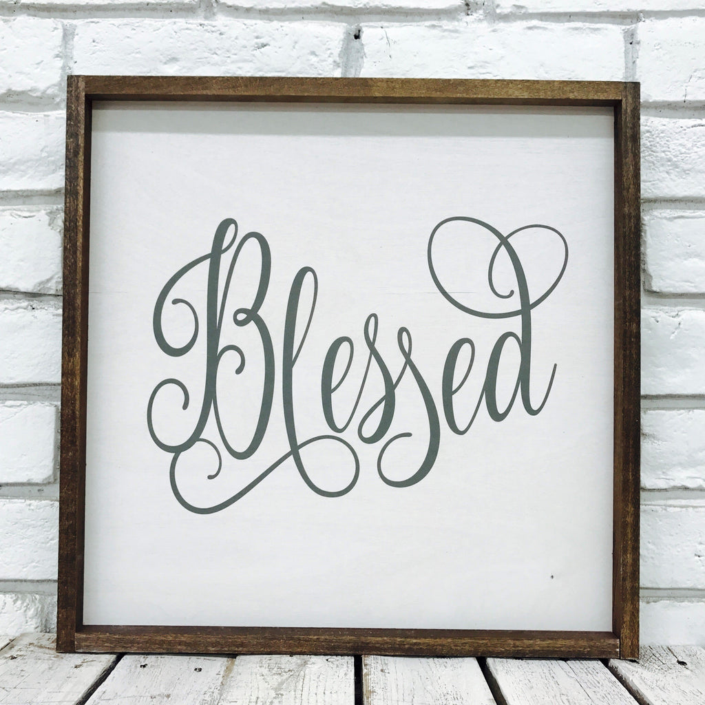 Blessed Square Wood (Frame Option: 16.5 x 16.5)