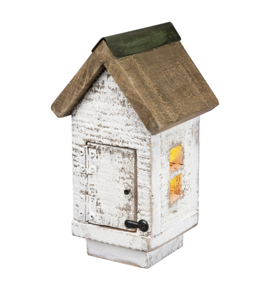 LIGHTED COLONIAL BIRDHOUSE