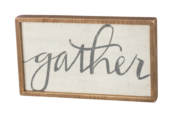 INSET BOX SIGN - GATHER
