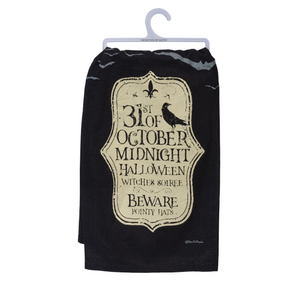Dish Towel - Midnight Halloween Witches Soiree