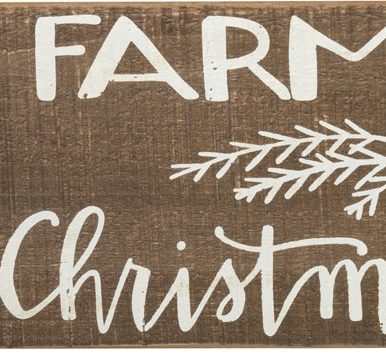 Slat Box Sign - Farm Fresh Christmas Trees