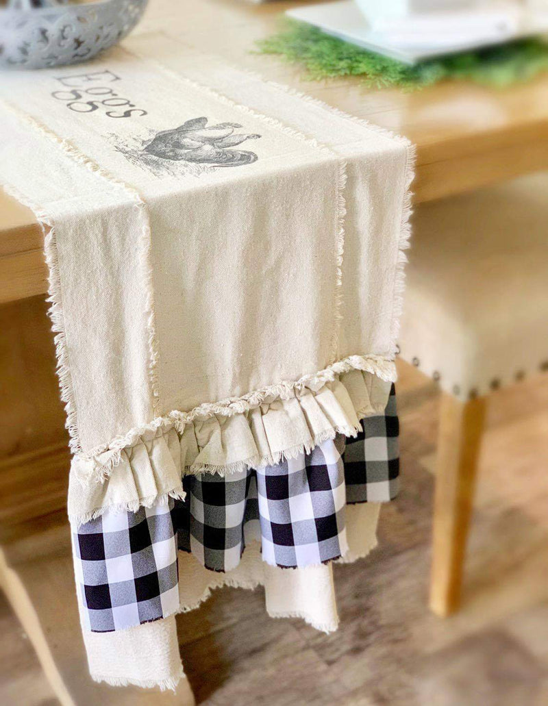 Farmhouse style Butter & Eggs runner
