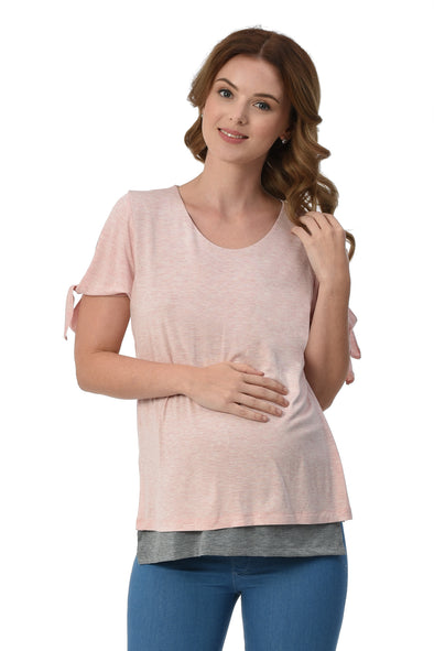 Layered Tee (GNST 034) - Pink