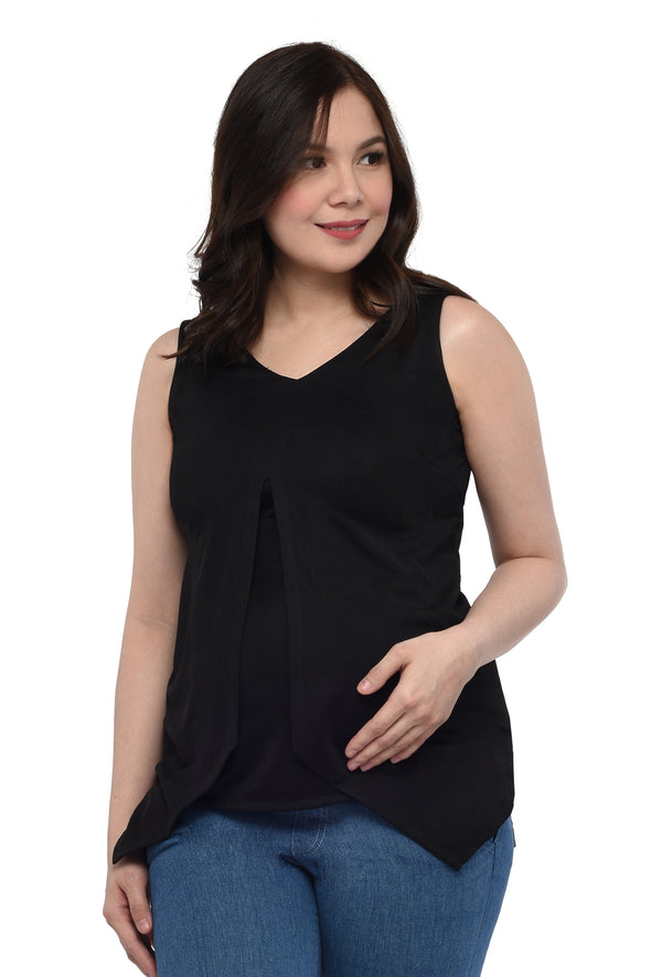 Sleeveless Top (GNST 019A) Black