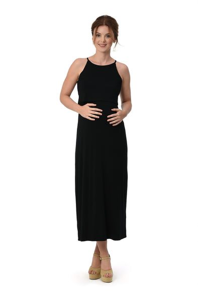 Halter Maxi Dress (GNSD 052) - BLACK