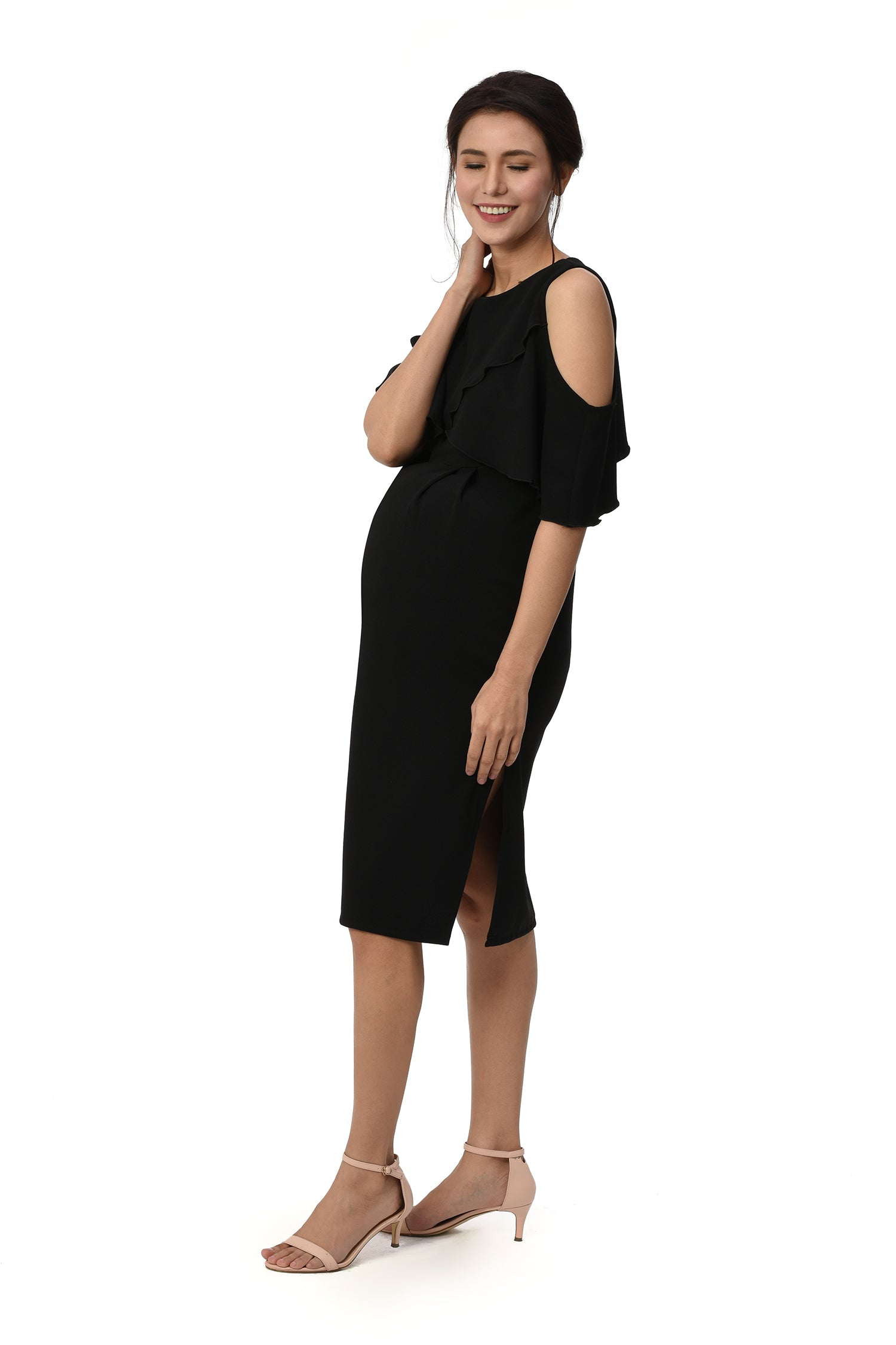 a66147fa63d Cold-Shoulder Nursing Dress (GNSD 049) – Great Expectations Maternity PH