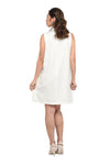 Collared Sleeveless Nursing Dress (GNSD 029B) - Offwhite