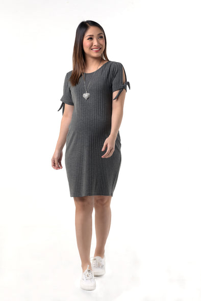 T-shirt Dress - Heather Grey (DRS 203)