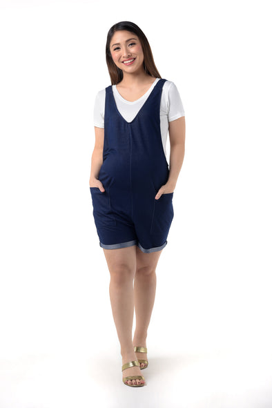 2 in 1 Maternity Romper Set (RMP 008) Denim