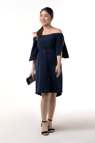 Off-Shoulder Dress with Sleeves Slit (DRS-199)