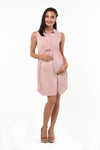 Collared Button-Down Dress - Peach (DRS-192)