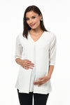 V-neck Loose Top - Ivory (GNST-030)