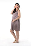 Geometric Nursing Dress - Blue Geometric (GNSD 030)