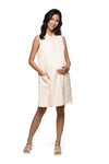 Collared Sleeveless Nursing Dress (GNSD-029D) Peach