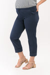 Fold Up Hem Maternity Cropped Pants - Navy (PNC 007)