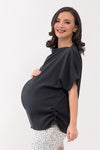 Assymetrical Maternity Top - Midnight (SSR 104)
