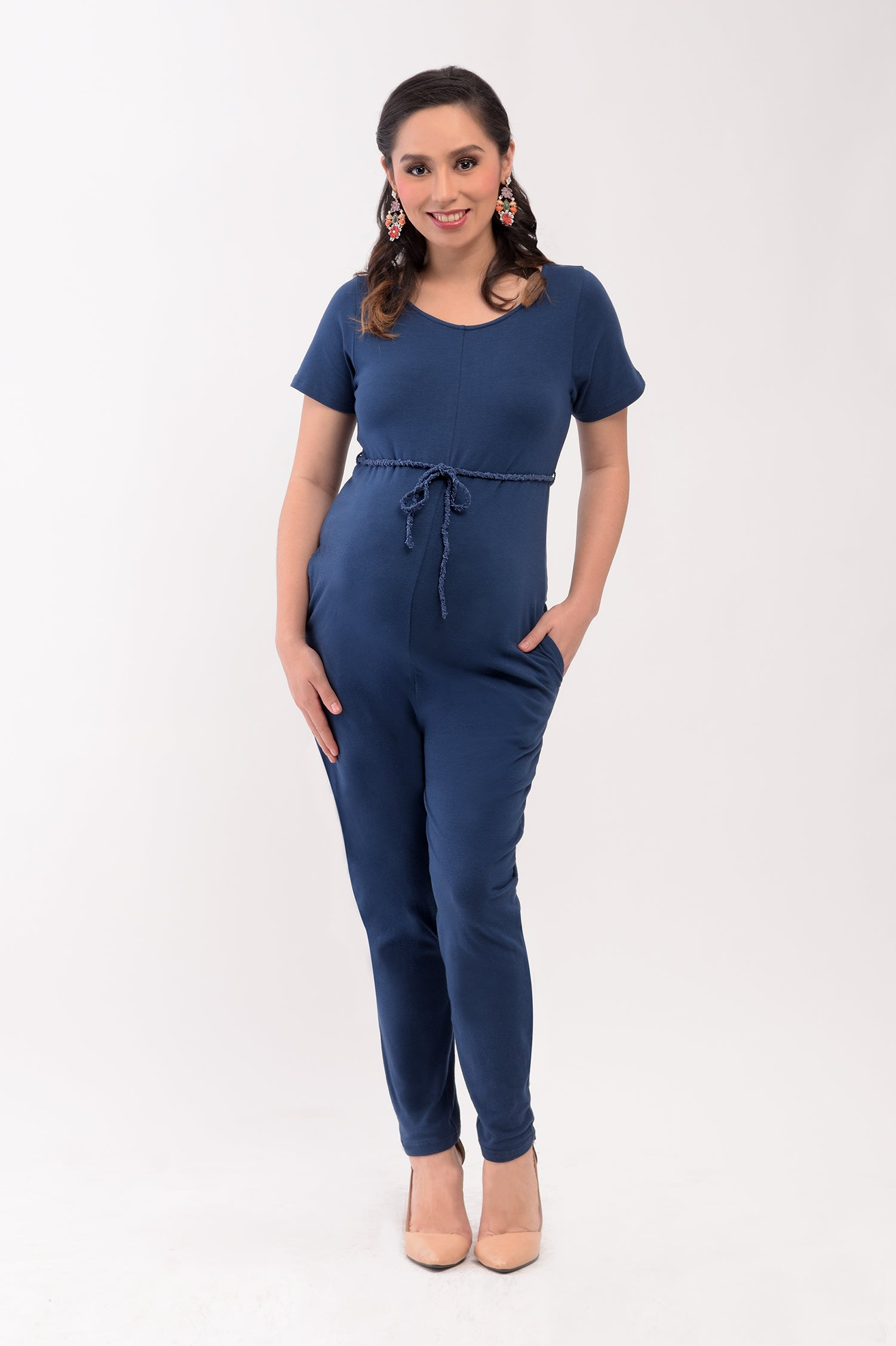 845e769dfc Knit Jersey Maternity Jumpsuit - Navy Blue (RMP 004) – Great Expectations  Maternity PH