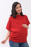 Assymetrical Maternity Top - Wine (SSR 104)