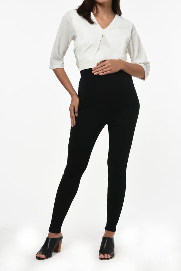 Full Panel Stretch Leggings - Black (PNL-056)