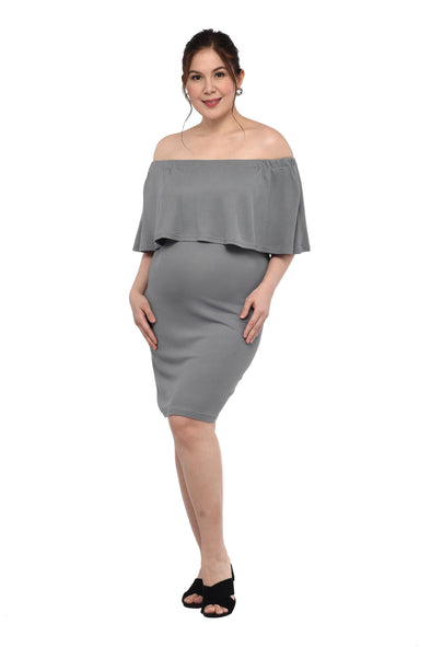 Bardot Dress (GNSD 027) - Pewter