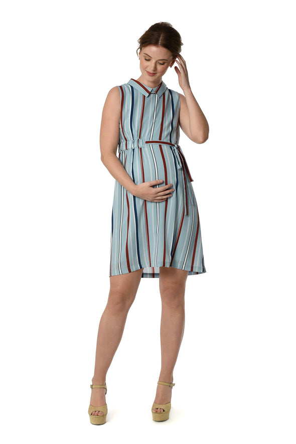 Striped Collared Dress (DRS 196)