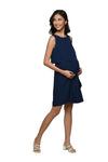 Side Frill Dress (GNSD 064) Navy