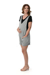2 in 1 Maternity Romper Set (RMP 008) Gray