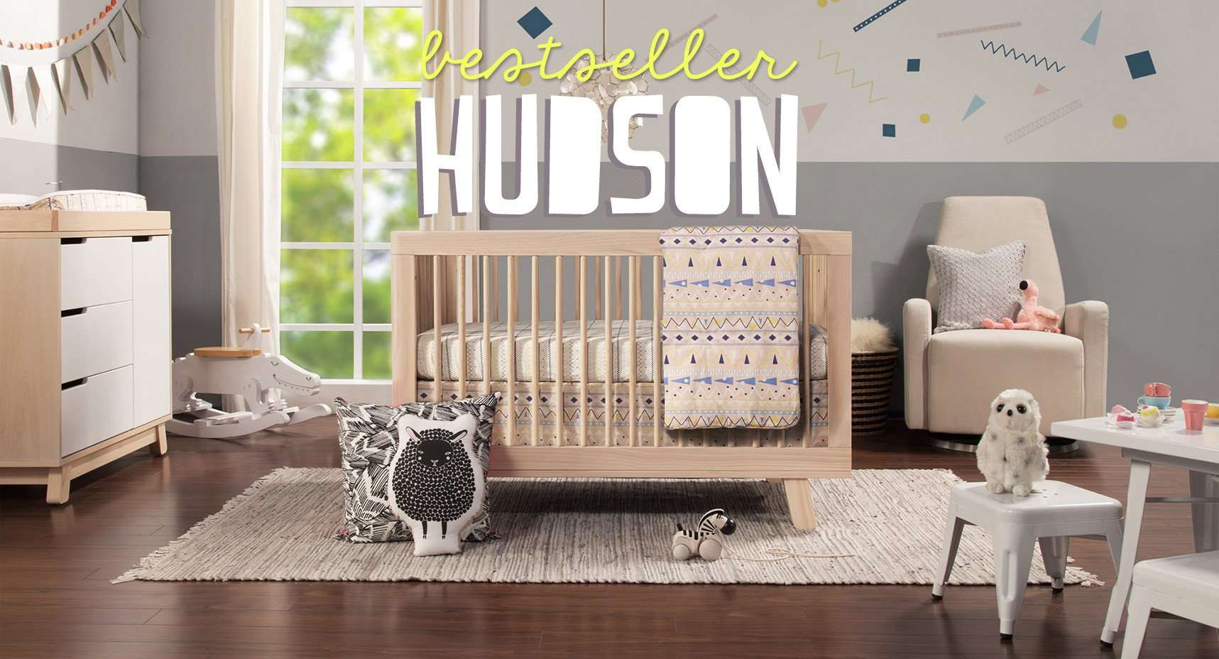 Babyletto Hudson crib collection in Washed Natural