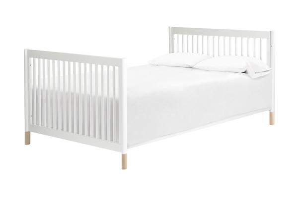 M5789W,Hidden Hardware Full Size Bed Conversion Kit In White Finish