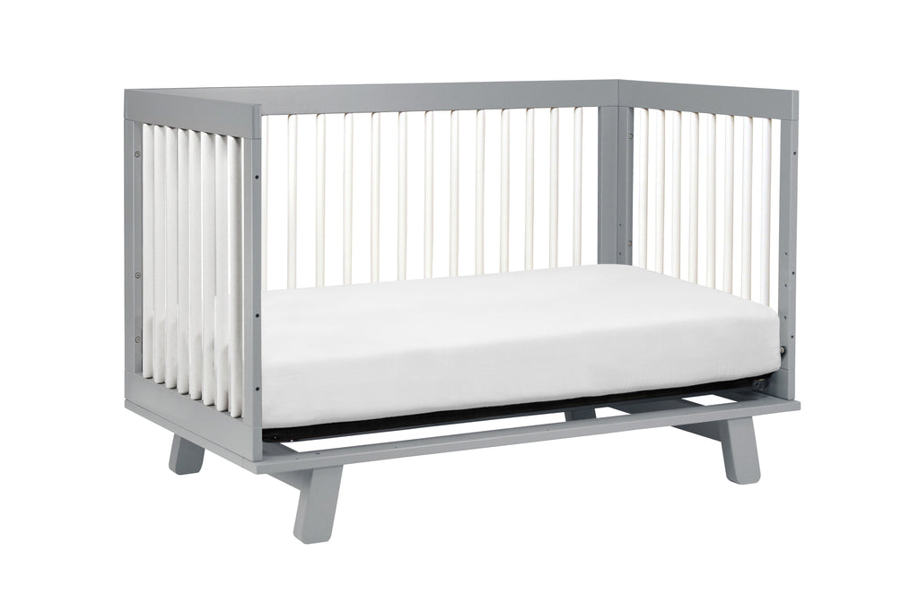 M4201GW,Hudson 3-in-1 Convertible Crib with Toddler Bed Conversion Kit in Grey/White