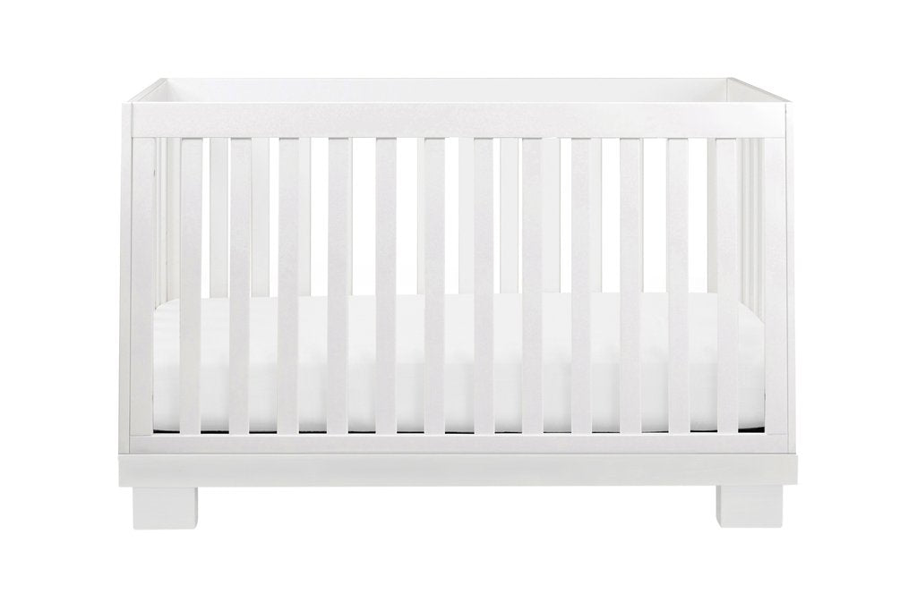 M6701W,Modo 3-in-1 Convertible Crib with Toddler Bed Conversion Kit in White Finish