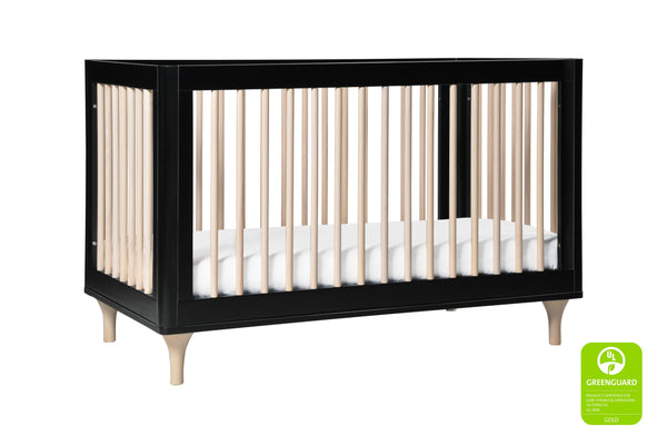 babyletto modern Lolly 3-In-1 Convertible Crib with Toddler Bed Conversion in Grey/Washed Natural 黑色 / 洗水原色