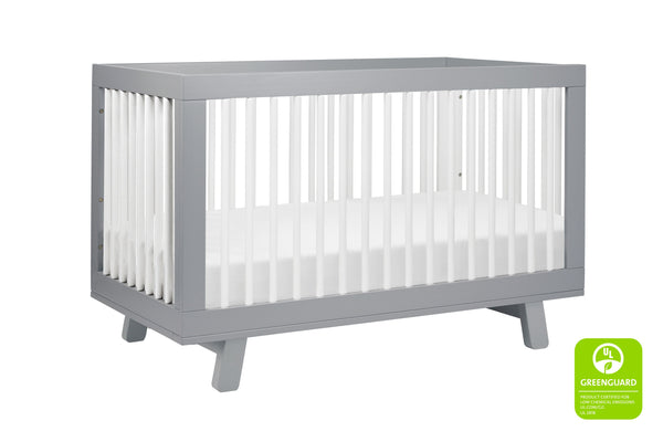 babyletto modern midcentury Hudson 3-in-1 Convertible Crib with Toddler Bed Conversion Kit in Grey Finish 灰 / 白