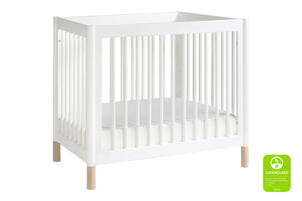 Babyletto modern Gelato 2-in-1 Mini Crib and Twin Bed Conversion, in Washed Natural with White Feet - modern convertible mini crib, bassinet alternative 白色 / 洗水原色