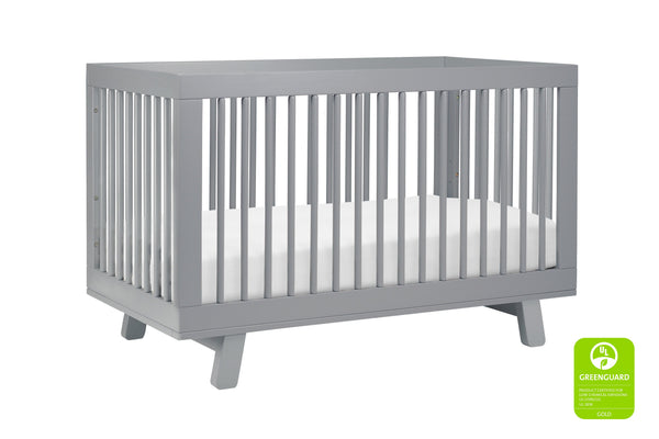 babyletto modern midcentury Hudson 3-in-1 Convertible Crib with Toddler Bed Conversion Kit in Grey Finish