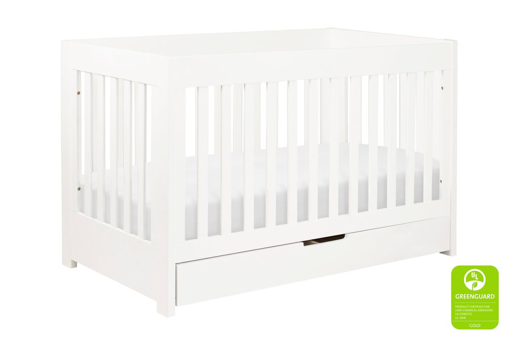 M6801W,Mercer 3-in-1 Convertible Crib with Toddler Bed Conversion Kit in White Finish