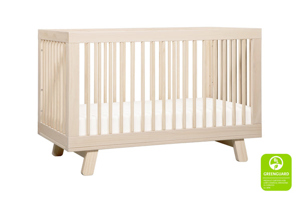 babyletto modern midcentury Hudson 3-in-1 Convertible Crib with Toddler Bed Conversion Kit in Grey Finish 洗水原色