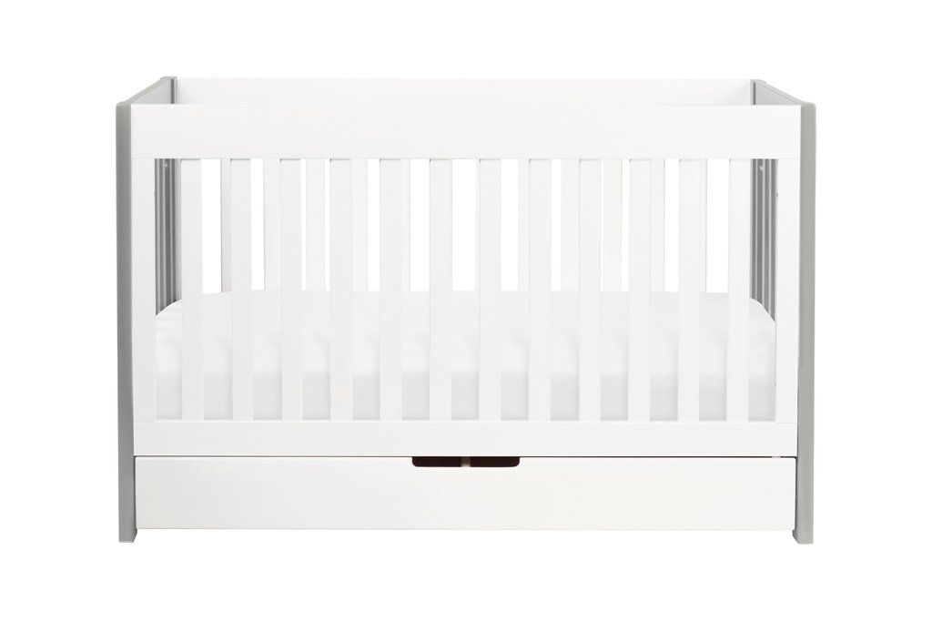 M6801GW,Mercer 3-in-1 Convertible Crib with Toddler Bed Conversion Kit in Grey and White